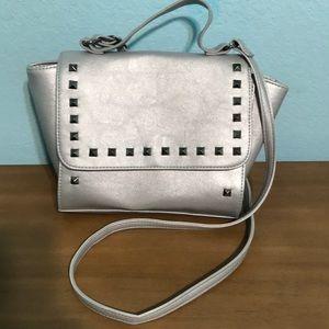 Silver crossbody bag